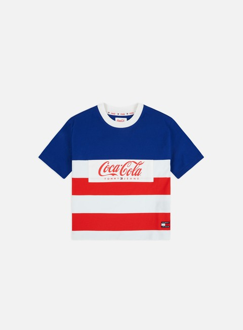 Sale Outlet Short Sleeve T-shirts Tommy Hilfiger WMNS TJ Tommy x Coca Cola Stripe Tshirt