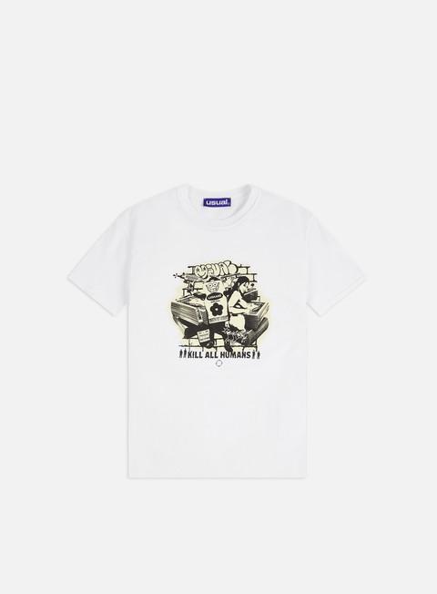 Outlet e Saldi T-shirt a Manica Corta Usual Kills T-shirt