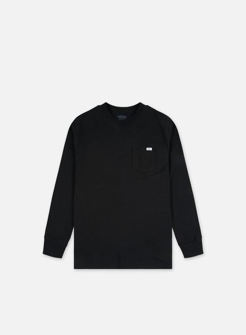 Long Sleeve T-shirts Vans Anaheim Needlepoint Skull LS Pocket T-shirt