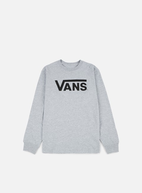 t shirt vans classic ls t shirt athletic heather black