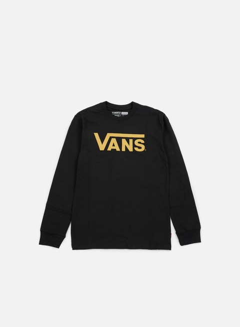 t shirt vans classic ls t shirt black cathay spice