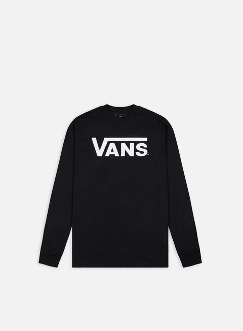 t shirt vans classic ls t shirt black white