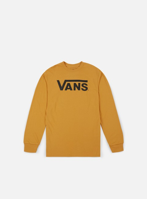 t shirt vans classic ls t shirt mineral yellow black