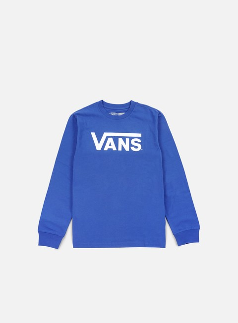 t shirt vans classic ls t shirt royal bright white
