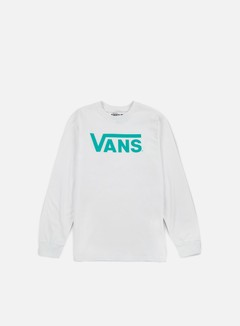 Vans - Classic LS T-shirt, White/Baltic