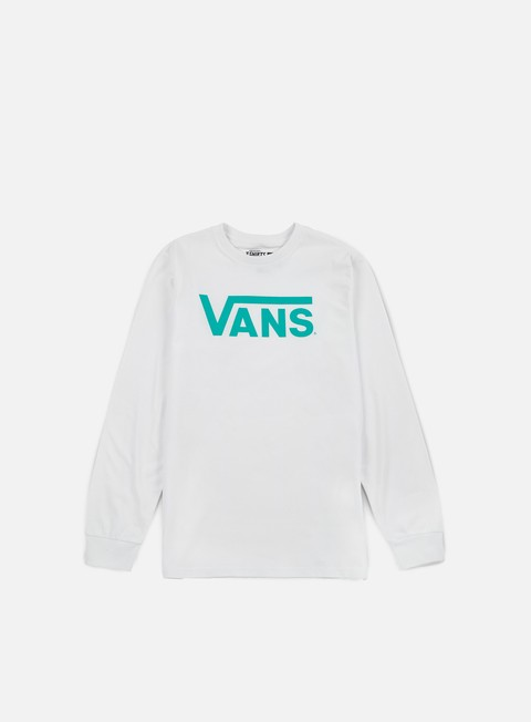 t shirt vans classic ls t shirt white baltic