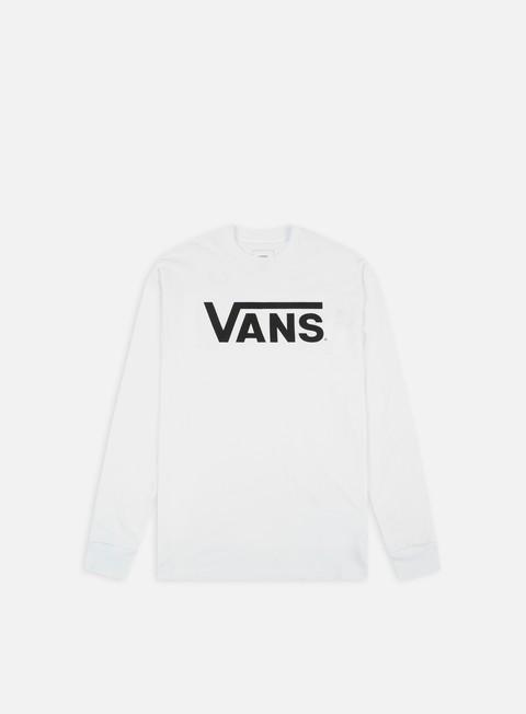 t shirt vans classic ls t shirt white black