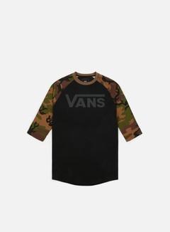 Vans - Classic Raglan T-shirt, Black/Camo