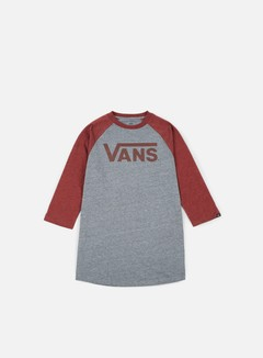 Vans - Classic Raglan T-shirt, Heather Grey/Burgundy Heather 1