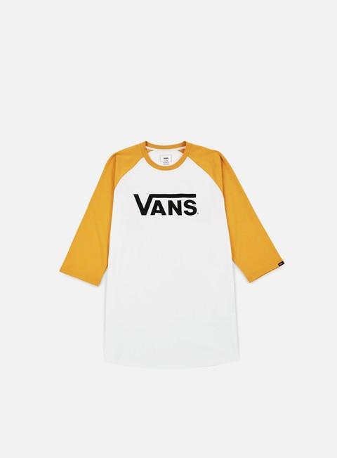 t shirt vans classic raglan t shirt white mineral yellow