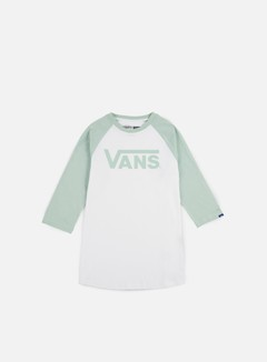 Vans - Classic Raglan T-shirt, White/Split Green