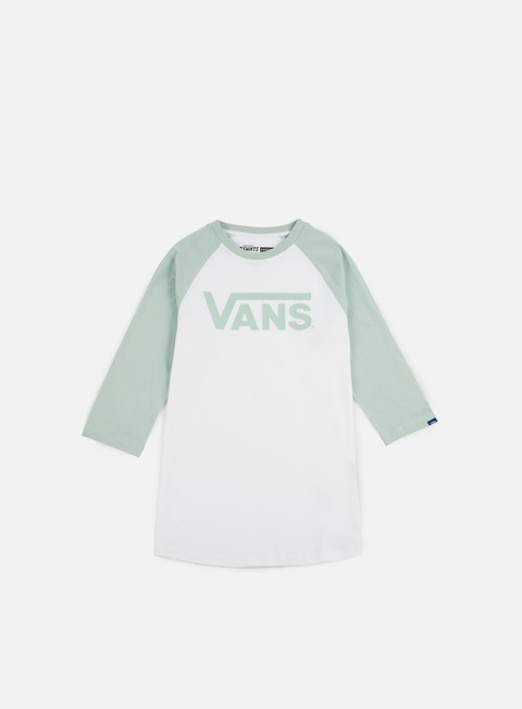 t shirt vans classic raglan t shirt white split green