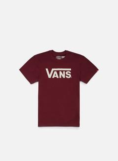 Vans - Classic T-shirt, Burgundy/Whitecaps