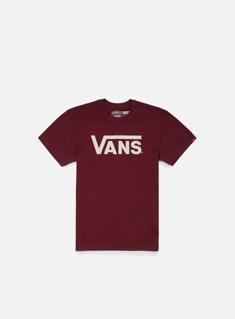t shirt vans classic t shirt burgundy whitecaps