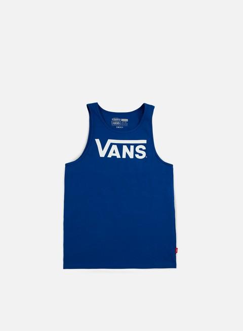 t shirt vans classic tank top true blue white
