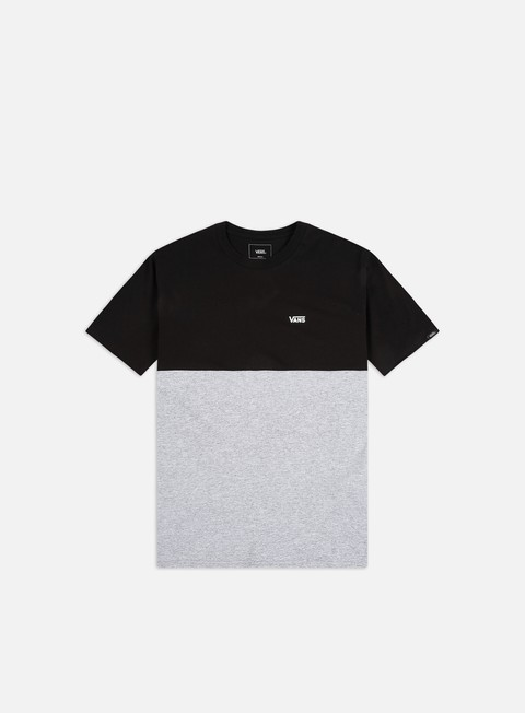 t shirt vans colorblock t shirt black athletic grey