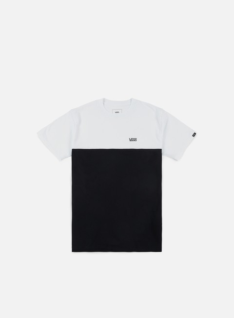 t shirt vans colorblock t shirt white black