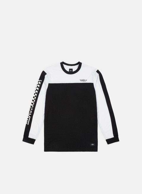 t shirt vans crossed sticks ls t shirt black