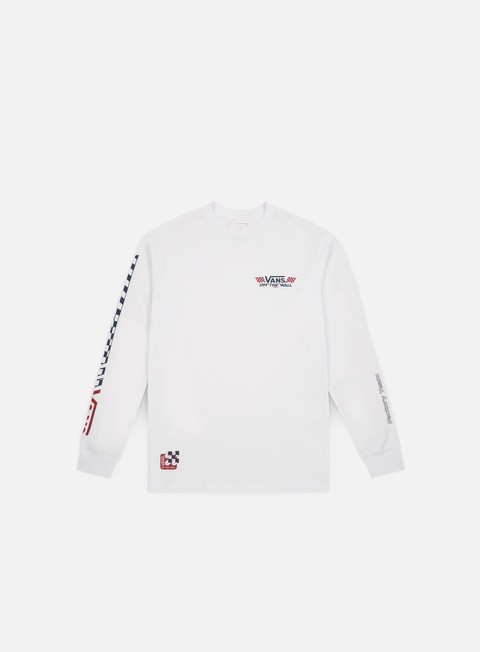 t shirt vans crossed sticks ls t shirt white