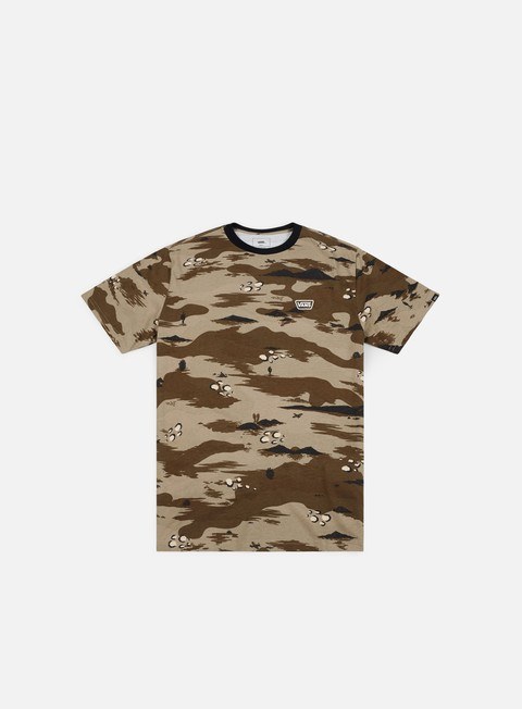 Sale Outlet Short Sleeve T-shirts Vans Desert Camo Ringer T-shirt