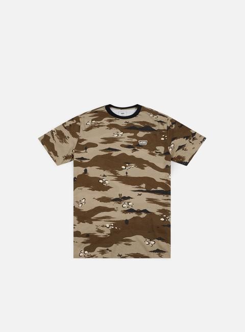 Outlet e Saldi T-shirt a Manica Corta Vans Desert Camo Ringer T-shirt