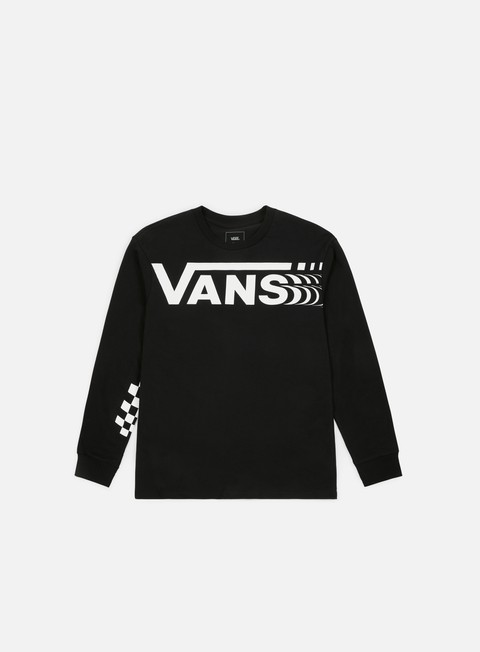 t shirt vans distorted ls t shirt black