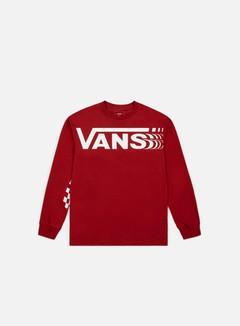 Vans - Distorted LS T-shirt, Cardinal