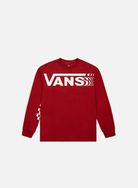 t shirt vans distorted ls t shirt cardinal