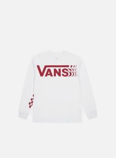 Vans - Distorted LS T-shirt, White
