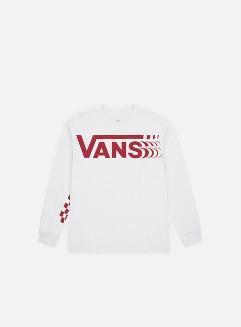 t shirt vans distorted ls t shirt white