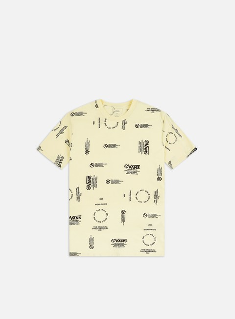 Sale Outlet Short Sleeve T-shirts Vans Distortion Allover Print T-shirt