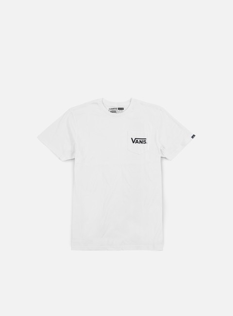 t shirt vans dropped v pocket t shirt white