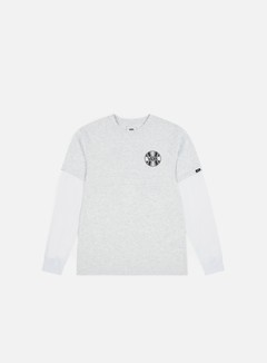 Vans - Factory Backed LS T-shirt, Ash Heather/White