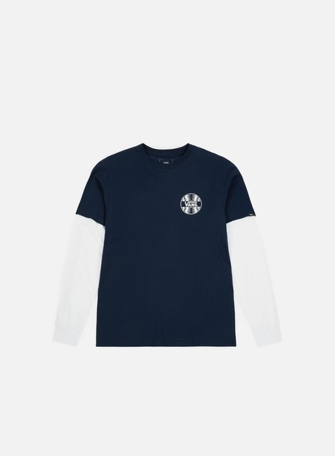 t shirt vans factory backed ls t shirt navy white