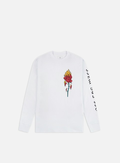 Outlet e Saldi T-shirt a Manica Lunga Vans Flaming Rose LS T-shirt