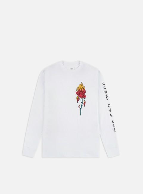Outlet e Saldi T-shirt a Manica Lunga Vans Flaming Rose LS T-shirt