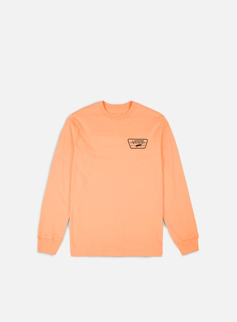 t shirt vans full patch back ls t shirt apricot ice black