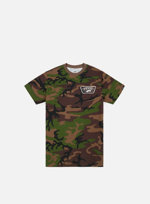 Sale Outlet Short Sleeve T-shirts Vans Full Patch Back T-shirt