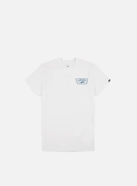 t shirt vans full patch back t shirt white baby blue