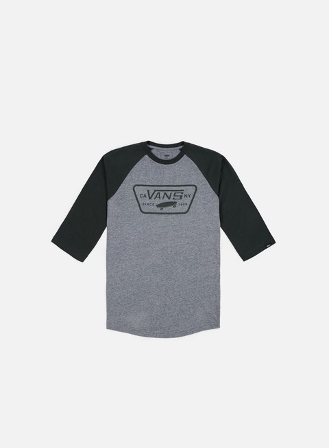 t shirt vans full patch raglan t shirt heather grey darkest spruce