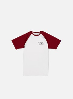 Vans - Full Patch Raglan T-shirt, White/Red Dahlia 1