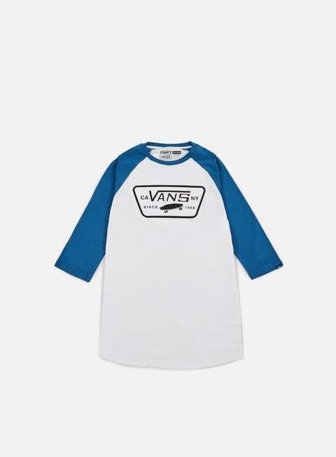 t shirt vans full patch raglan t shirt white seaport
