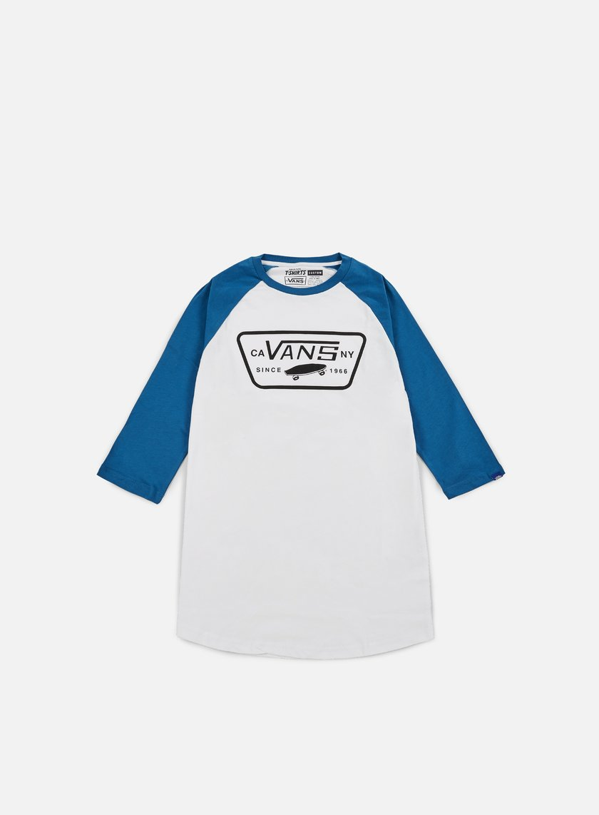 Vans - Full Patch Raglan T-shirt, White/Seaport