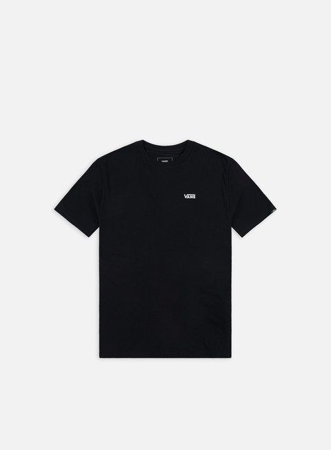 t shirt vans left chest logo t shirt black