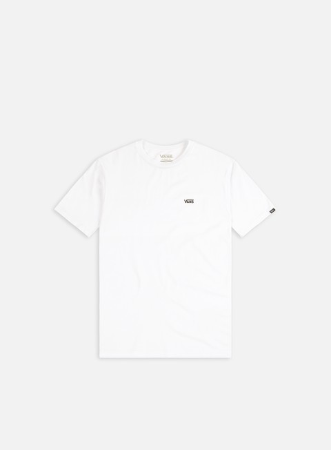 t shirt vans left chest logo t shirt white