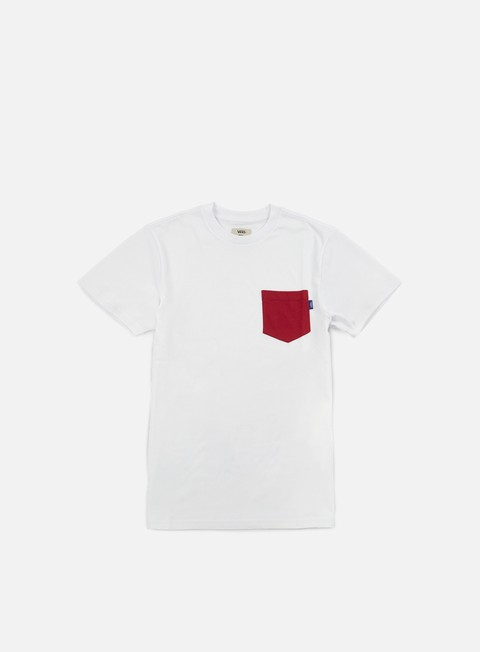 t shirt vans mono pocket t shirt crimson
