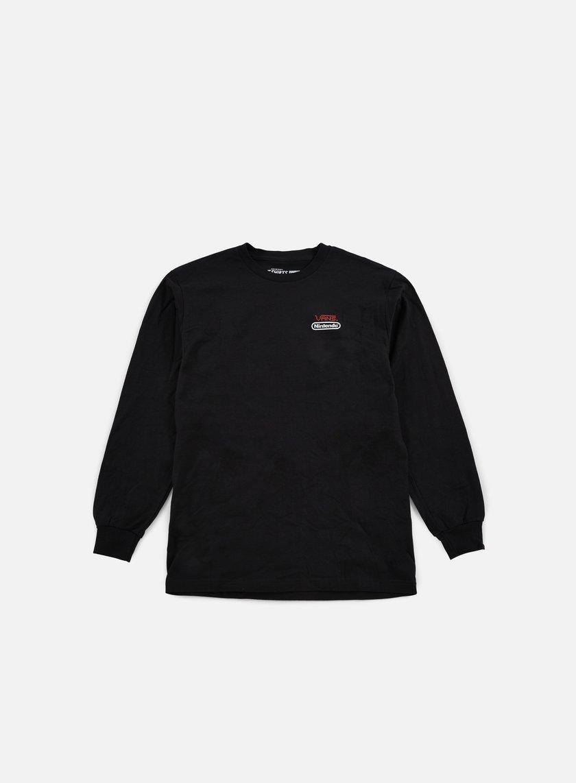 Vans - Nintendo LS T-shirt, Black