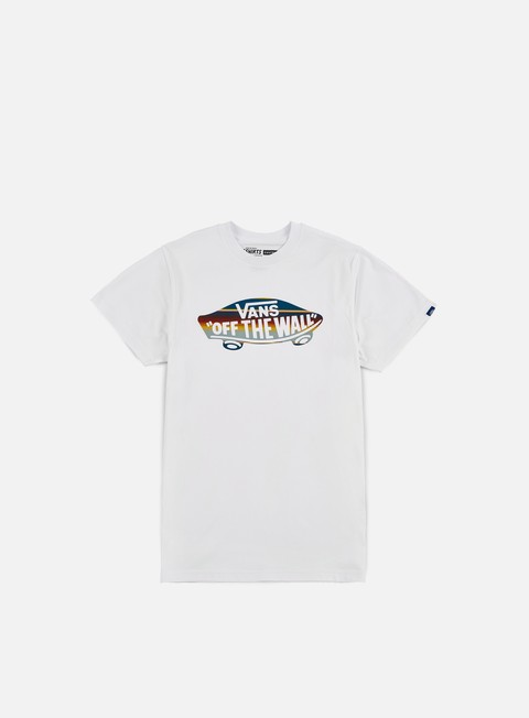 t shirt vans otw fill logo t shirt white blue mirage rockway stripe