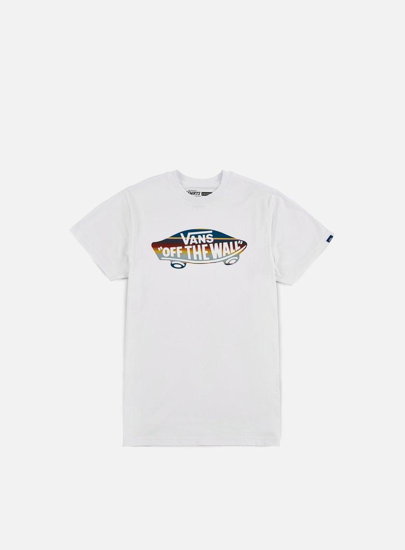 Vans - OTW Fill Logo T-shirt, White/Blue Mirage/Rockway Stripe