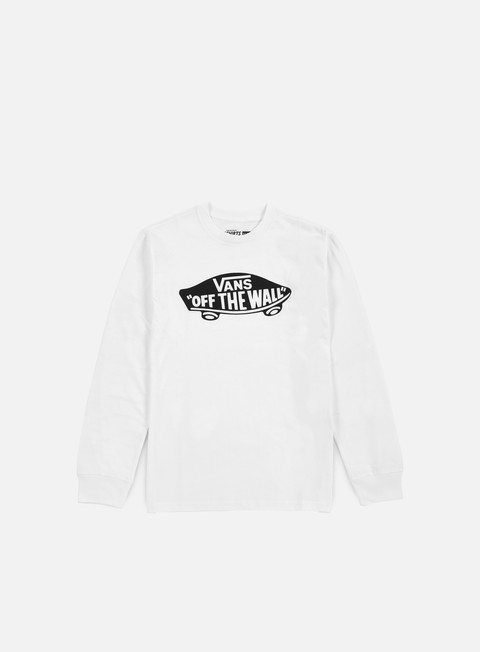 t shirt vans otw ls t shirt white black